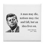 John F. Kennedy 3 Tile Coaster