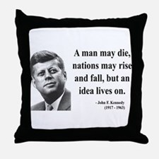 John F. Kennedy 3 Throw Pillow