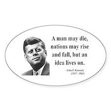 John F. Kennedy 3 Oval Decal