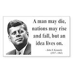 John F. Kennedy 3 Rectangle Sticker