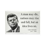 John F. Kennedy 3 Rectangle Magnet (10 pack)