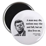 John F. Kennedy 3 Magnet