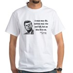John F. Kennedy 3 White T-Shirt