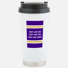 Purple and Gold Persona Stainless Steel Travel Mug