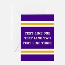 Purple and Gold Personalizable Team Greeting Card