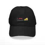 I Love Bulldozers Black Cap