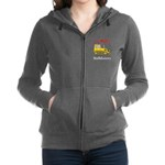 I Love Bulldozers Women's Zip Hoodie