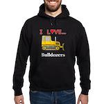 I Love Bulldozers Hoodie (dark)