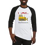 I Love Bulldozers Baseball Jersey