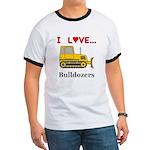 I Love Bulldozers Ringer T