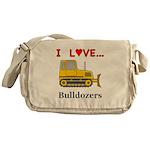I Love Bulldozers Messenger Bag