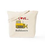 I Love Bulldozers Tote Bag