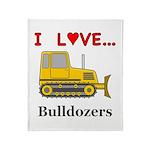 I Love Bulldozers Throw Blanket