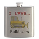I Love Bulldozers Flask