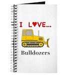 I Love Bulldozers Journal