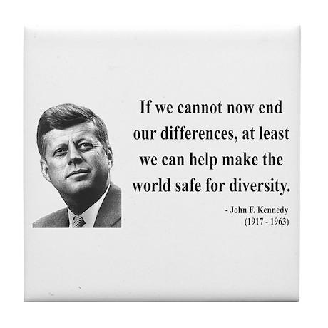 John F. Kennedy 4 Tile Coaster