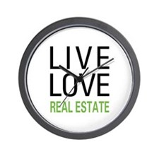 Live Love Real Estate Wall Clock