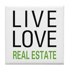 Live Love Real Estate Tile Coaster
