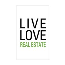 Live Love Real Estate Rectangle Decal
