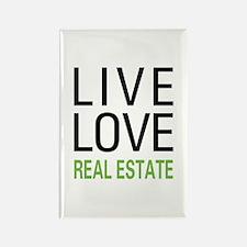 Live Love Real Estate Rectangle Magnet