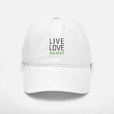 Live Love Real Estate Baseball Baseball Cap