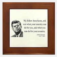 John F. Kennedy 5 Framed Tile