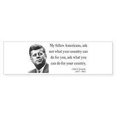 John F. Kennedy 5 Bumper Bumper Sticker