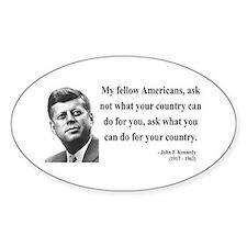 John F. Kennedy 5 Oval Decal