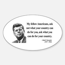 John F. Kennedy 5 Oval Decal