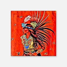 """Aztec Bird Dancer Square Sticker 3"""" x 3"""""""