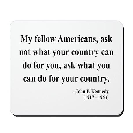 John F. Kennedy 5 Mousepad