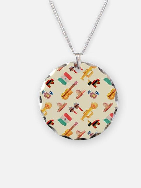 mexican watercolor Necklace