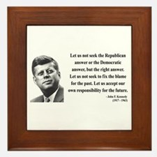 John F. Kennedy 6 Framed Tile