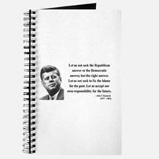 John F. Kennedy 6 Journal