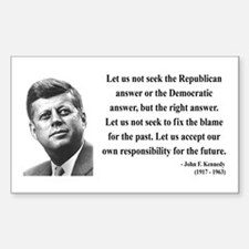 John F. Kennedy 6 Rectangle Decal