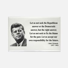 John F. Kennedy 6 Rectangle Magnet