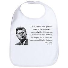 John F. Kennedy 6 Bib