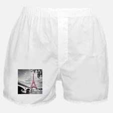 Pink Eiffel Tower Boxer Shorts