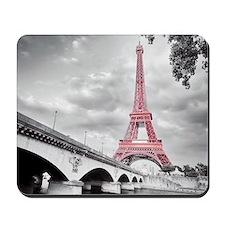 Pink Eiffel Tower Mousepad