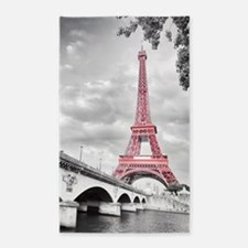 Pink Eiffel Tower Area Rug