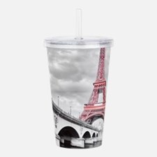 Pink Eiffel Tower Acrylic Double-wall Tumbler