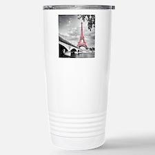 Pink Eiffel Tower Travel Mug