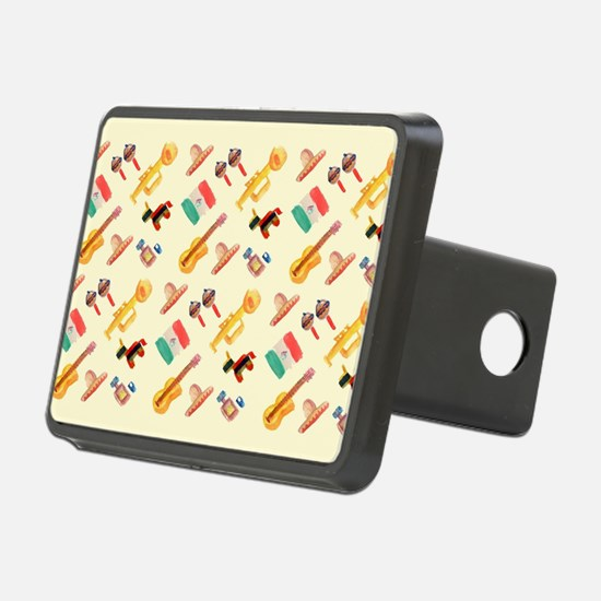 mexican watercolor Hitch Cover