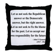 John F. Kennedy 6 Throw Pillow