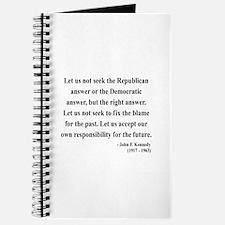 John F. Kennedy 6 Journal