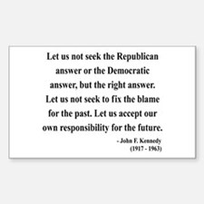 John F. Kennedy 6 Rectangle Decal