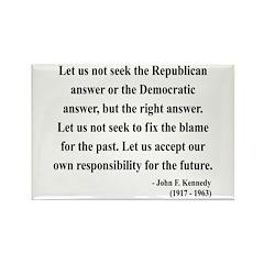 John F. Kennedy 6 Rectangle Magnet (100 pack)