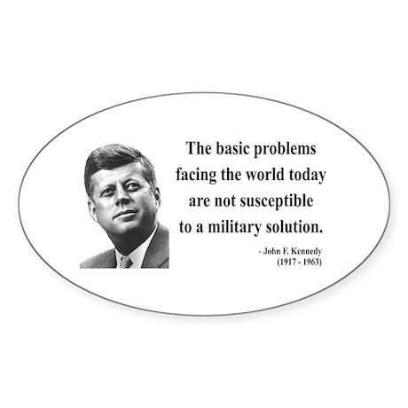 John F. Kennedy 7 Oval Sticker