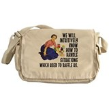 Alcoholics anonymous Canvas Messenger Bags