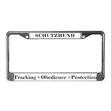 Cute Schutzhund License Plate Frame